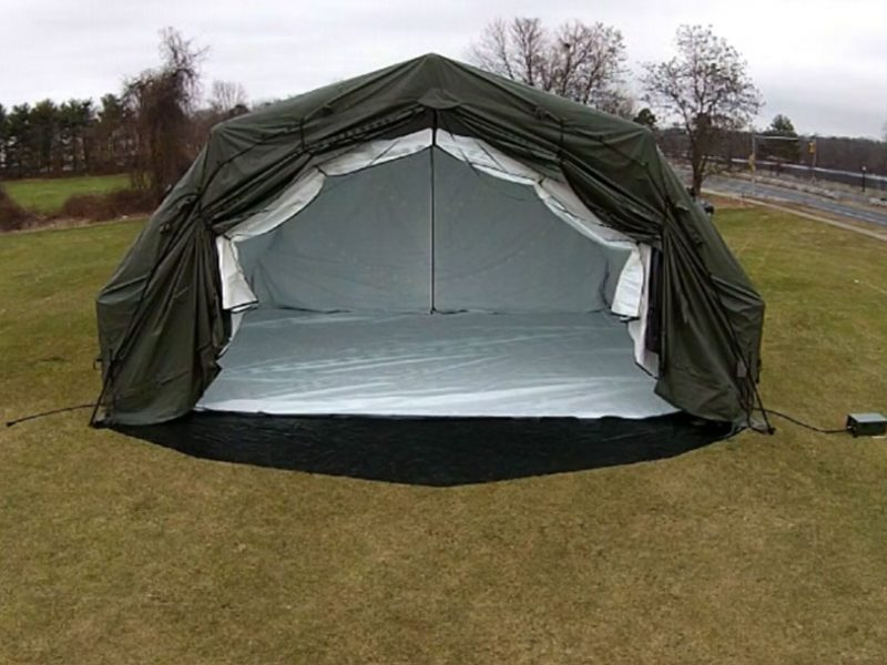 ... airbeam-tent-cargo-access ... & 4000 Series AirBeam Shelters Inflatable Military Tents Federal ...